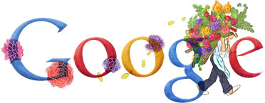 Google Logo: 2011 Festival of the Flowers in Medellin, Colombia