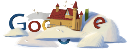 Google Logo: Rafaël Escalona's 85th birthday - Colombian composer, painter and writer
