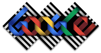 Google Logo: Omar Rayo's 84th birthday, Colombian painter and sculpter